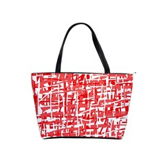 Red decorative pattern Shoulder Handbags