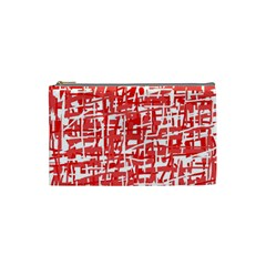Red decorative pattern Cosmetic Bag (Small)