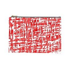 Red decorative pattern Cosmetic Bag (Large)