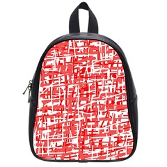 Red decorative pattern School Bags (Small)