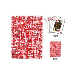 Red decorative pattern Playing Cards (Mini)