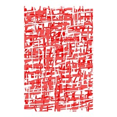 Red decorative pattern Shower Curtain 48  x 72  (Small)