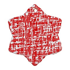 Red decorative pattern Snowflake Ornament (2-Side)