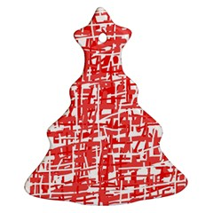 Red decorative pattern Christmas Tree Ornament (2 Sides)