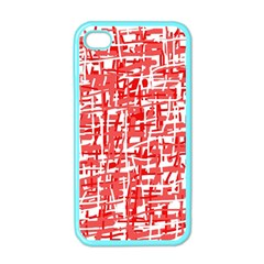 Red decorative pattern Apple iPhone 4 Case (Color)