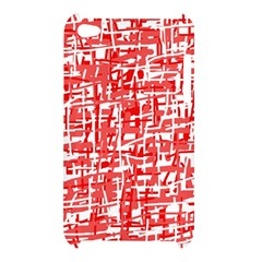 Red decorative pattern Apple iPod Touch 4