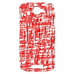 Red decorative pattern HTC One S Hardshell Case