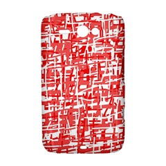 Red decorative pattern HTC ChaCha / HTC Status Hardshell Case