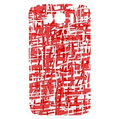 Red decorative pattern HTC Sensation XL Hardshell Case