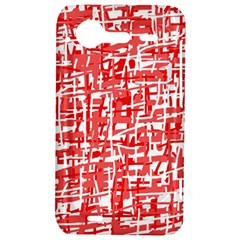 Red decorative pattern HTC Incredible S Hardshell Case