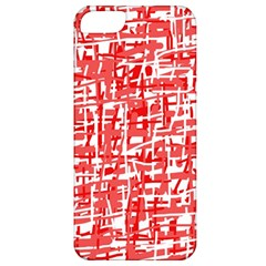 Red decorative pattern Apple iPhone 5 Classic Hardshell Case