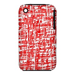 Red decorative pattern Apple iPhone 3G/3GS Hardshell Case (PC+Silicone)