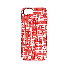 Red decorative pattern Apple iPhone 5 Classic Hardshell Case (PC+Silicone)