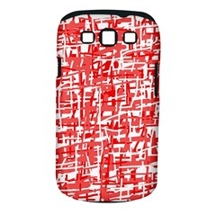 Red decorative pattern Samsung Galaxy S III Classic Hardshell Case (PC+Silicone)