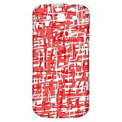 Red decorative pattern Samsung Galaxy S3 S III Classic Hardshell Back Case