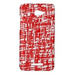 Red decorative pattern HTC Butterfly X920E Hardshell Case