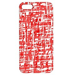 Red decorative pattern Apple iPhone 5 Hardshell Case with Stand