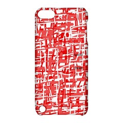 Red decorative pattern Apple iPod Touch 5 Hardshell Case with Stand