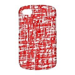 Red decorative pattern BlackBerry Q10