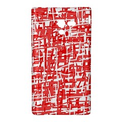 Red decorative pattern Sony Xperia ZL (L35H)