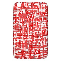 Red decorative pattern Samsung Galaxy Tab 3 (8 ) T3100 Hardshell Case