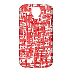Red decorative pattern Samsung Galaxy S4 Classic Hardshell Case (PC+Silicone)