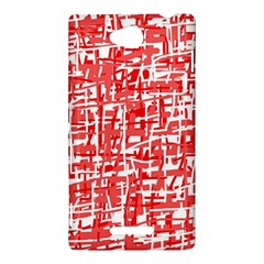 Red decorative pattern Sony Xperia C (S39H)