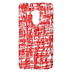 Red decorative pattern HTC One Max (T6) Hardshell Case