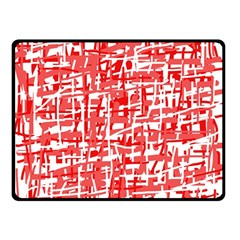 Red decorative pattern Double Sided Fleece Blanket (Small)