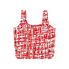 Red decorative pattern Full Print Recycle Bags (S)