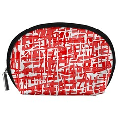 Red decorative pattern Accessory Pouches (Large)