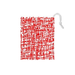 Red decorative pattern Drawstring Pouches (Small)