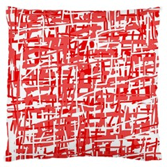 Red decorative pattern Standard Flano Cushion Case (One Side)
