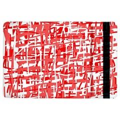 Red decorative pattern iPad Air 2 Flip