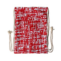 Red decorative pattern Drawstring Bag (Small)
