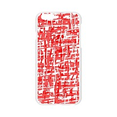 Red decorative pattern Apple Seamless iPhone 6/6S Case (Transparent)