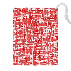 Red decorative pattern Drawstring Pouches (XXL)
