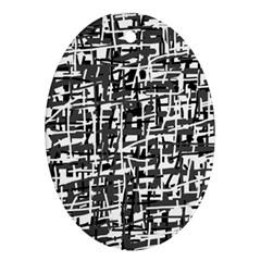 Gray pattern Ornament (Oval)