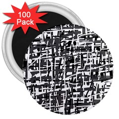 Gray pattern 3  Magnets (100 pack)