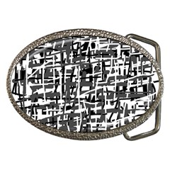 Gray pattern Belt Buckles