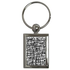 Gray pattern Key Chains (Rectangle)