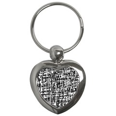Gray pattern Key Chains (Heart)