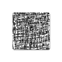 Gray pattern Square Magnet