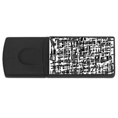 Gray pattern USB Flash Drive Rectangular (1 GB)