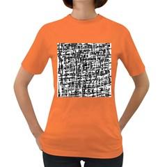 Gray pattern Women s Dark T-Shirt