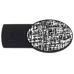 Gray pattern USB Flash Drive Oval (4 GB)