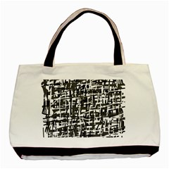 Gray pattern Basic Tote Bag (Two Sides)