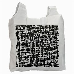 Gray pattern Recycle Bag (Two Side)