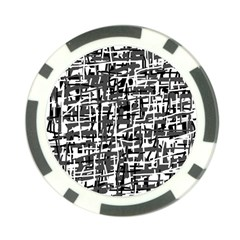 Gray pattern Poker Chip Card Guards (10 pack)