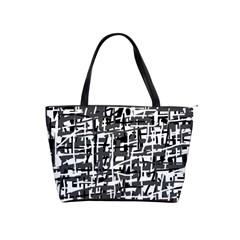 Gray pattern Shoulder Handbags
